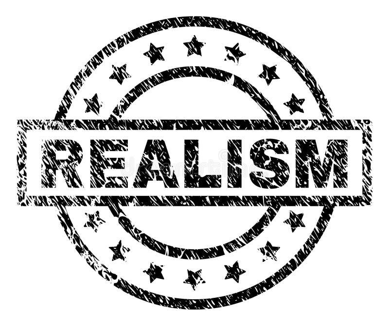 Sello texturizado Grunge del sello del REALISMO stock de ilustración