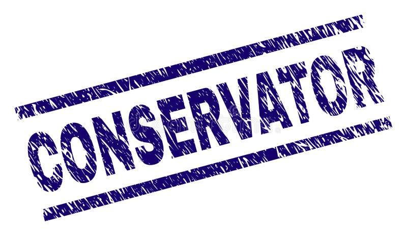 Sello texturizado rasguñado del sello del CONSERVADOR stock de ilustración