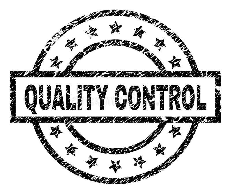 Sello texturizado rasguñado del sello del CONTROL DE CALIDAD stock de ilustración