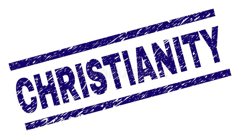 Sello texturizado rasguñado del sello del CRISTIANISMO libre illustration