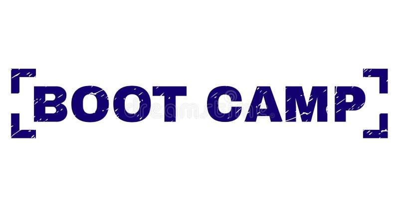Sello texturizado rasguñado del sello de BOOT CAMP entre las esquinas libre illustration