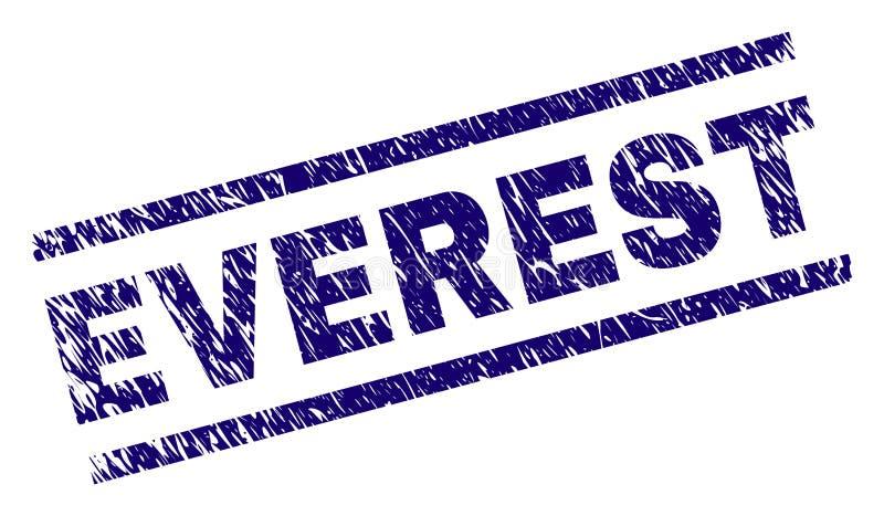Sello texturizado rasguñado del sello de EVEREST ilustración del vector
