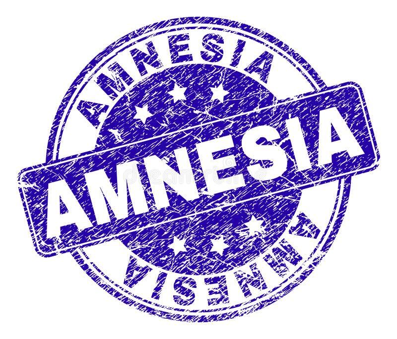 Sello texturizado rasguñado del sello de la AMNESIA ilustración del vector
