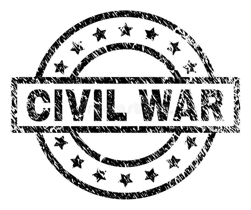 Sello texturizado rasguñado del sello de la GUERRA CIVIL libre illustration