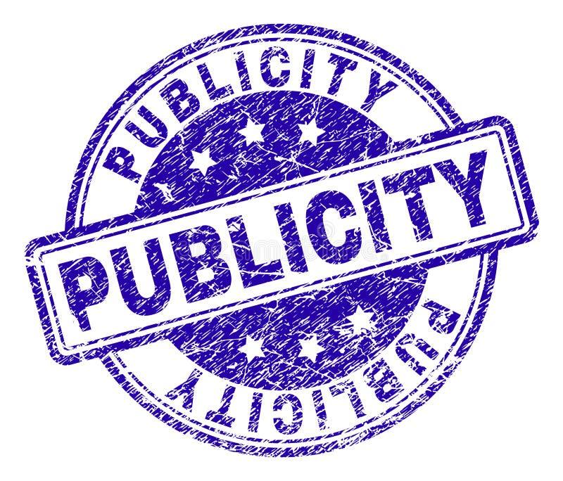 Sello texturizado rasguñado del sello de la PUBLICIDAD libre illustration
