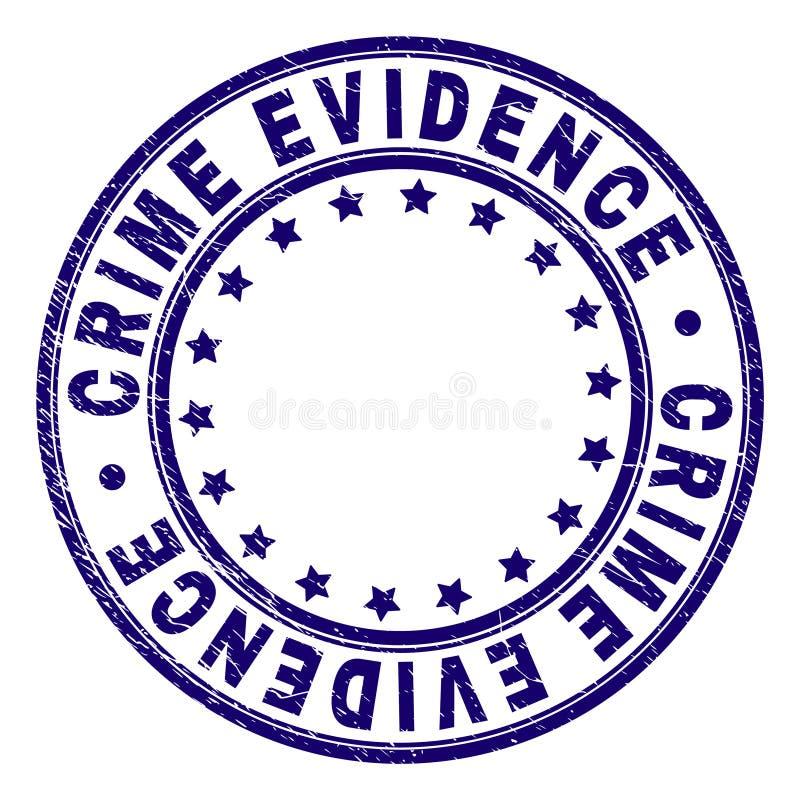 Sello texturizado rasguñado del sello de la ronda de las PRUEBAS del CRIMEN libre illustration