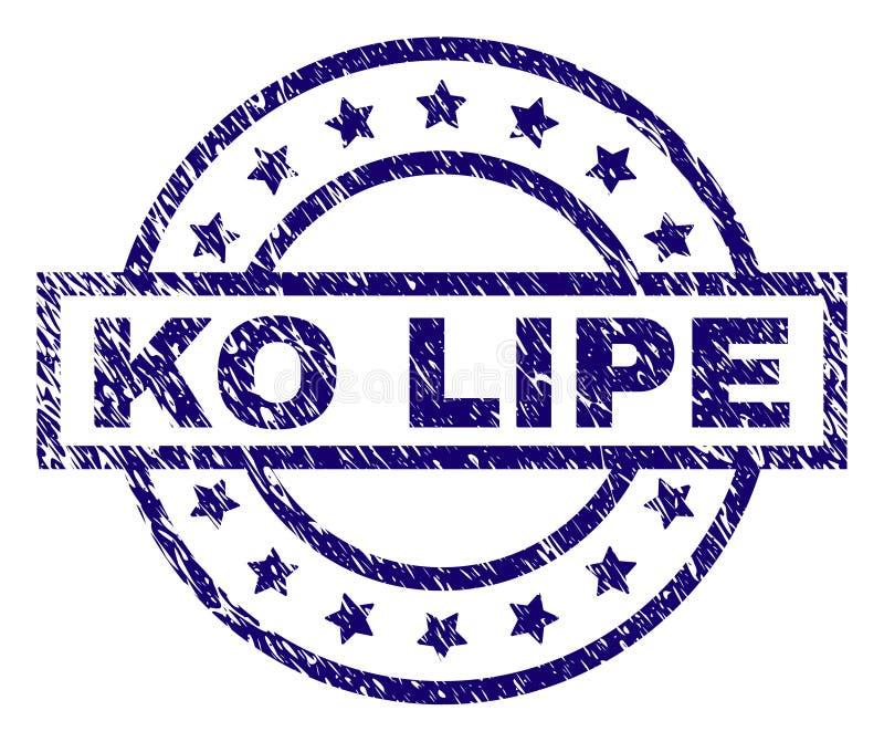 Sello texturizado rasguñado del sello del knock-out LIPE stock de ilustración