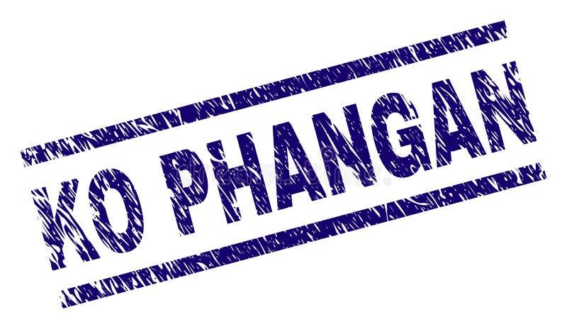 Sello texturizado rasguñado del sello del knock-out PHANGAN ilustración del vector