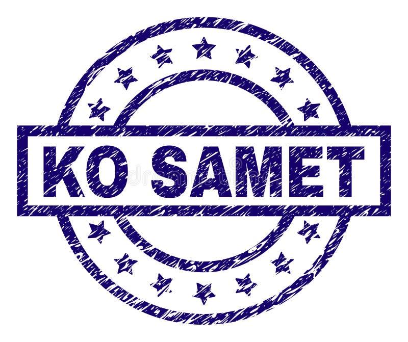 Sello texturizado rasguñado del sello del knock-out SAMET stock de ilustración