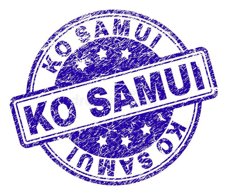 Sello texturizado rasguñado del sello del knock-out SAMUI ilustración del vector