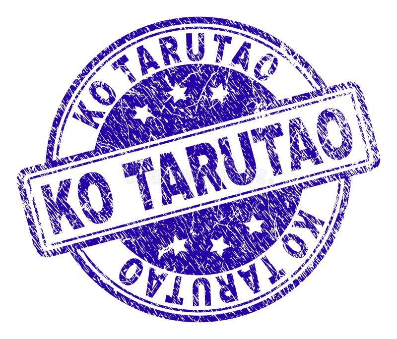 Sello texturizado rasguñado del sello del knock-out TARUTAO stock de ilustración