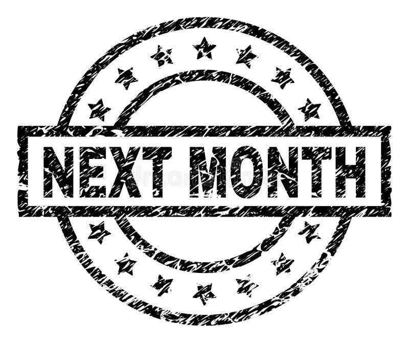 Sello texturizado rasguñado del sello del MES PR'OXIMO libre illustration