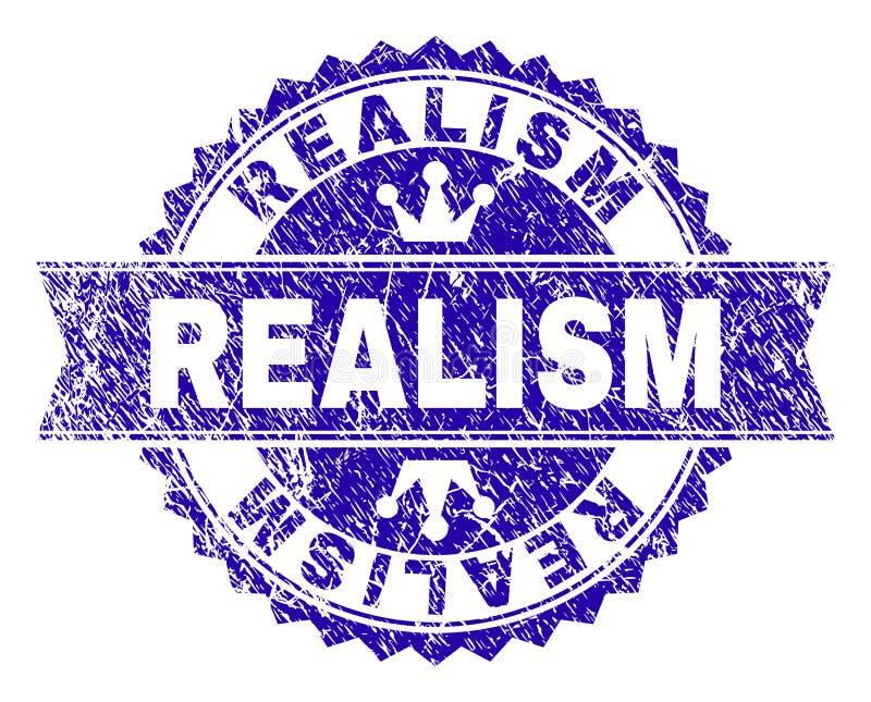 Sello texturizado rasguñado del sello del REALISMO con la cinta ilustración del vector