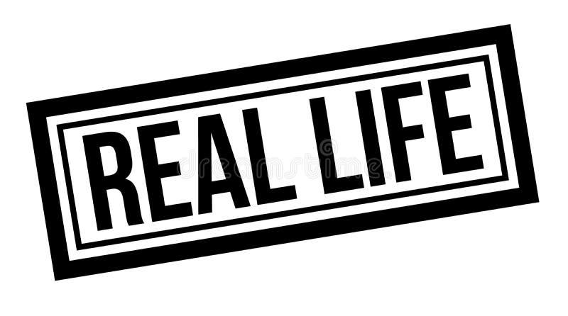 Sello tipográfico de la vida real stock de ilustración