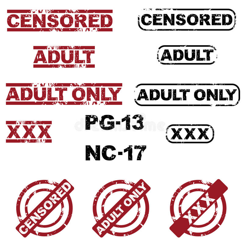 Sellos censurados ilustración del vector