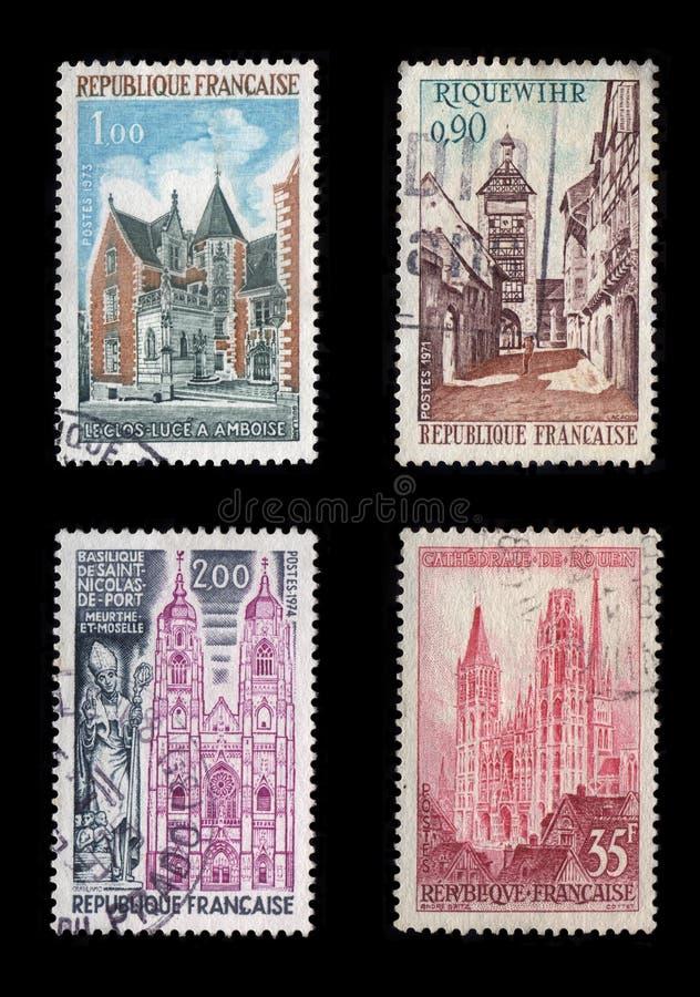 Sellos de Francia imagenes de archivo