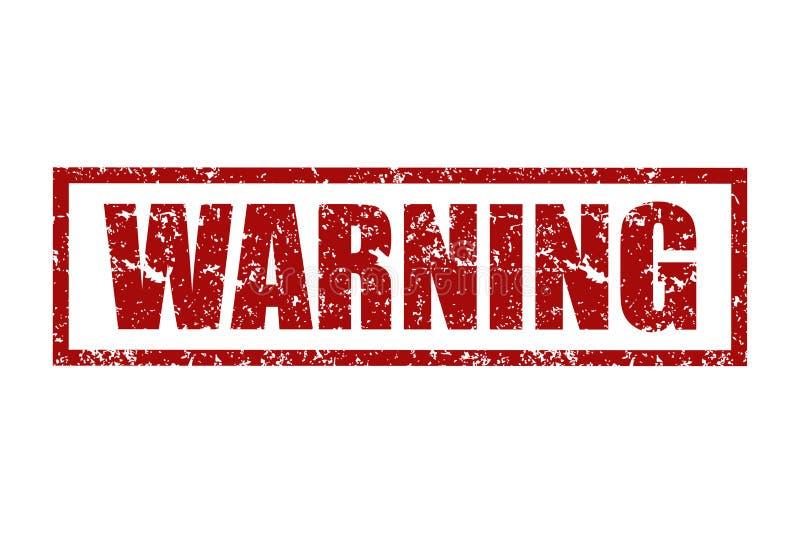 Sellos de goma con la advertencia de la palabra dentro Ilustración del vector stock de ilustración