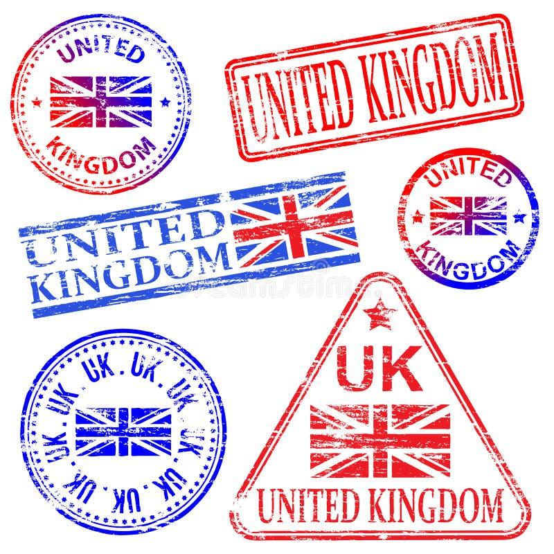 Sellos de goma de Reino Unido libre illustration