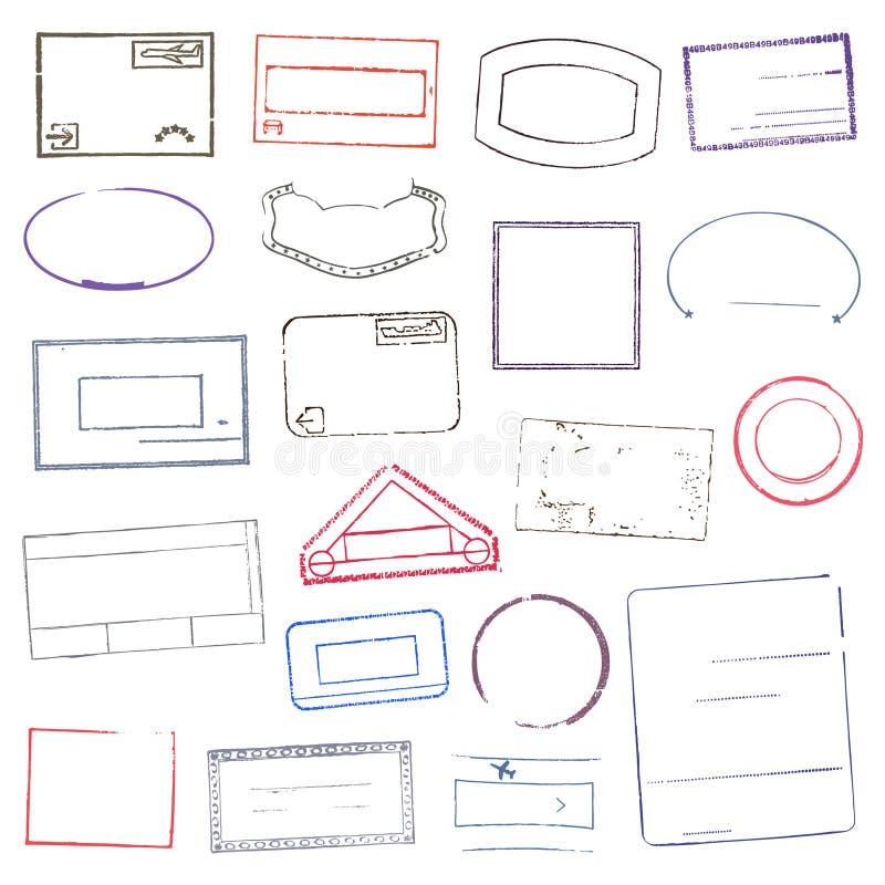 Sellos de goma Ilustración del vector stock de ilustración