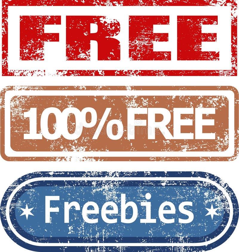 Sellos de goma libres fijados libre illustration