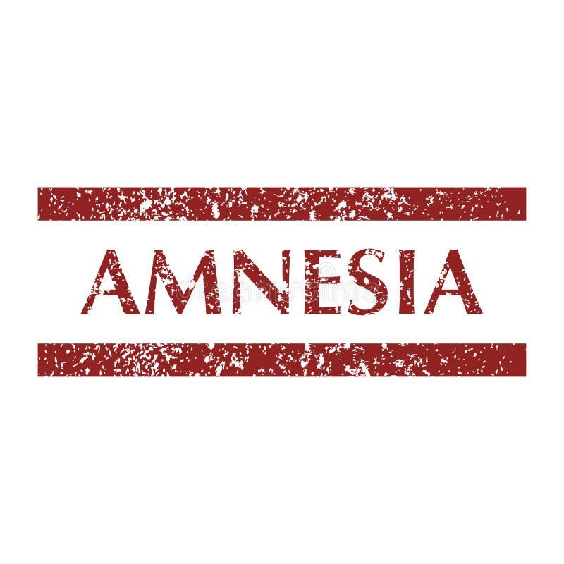 Sellos de la amnesia del trastorno mental stock de ilustración