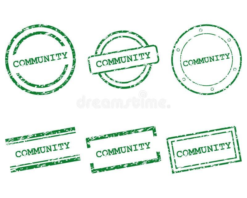 Sellos de la comunidad libre illustration