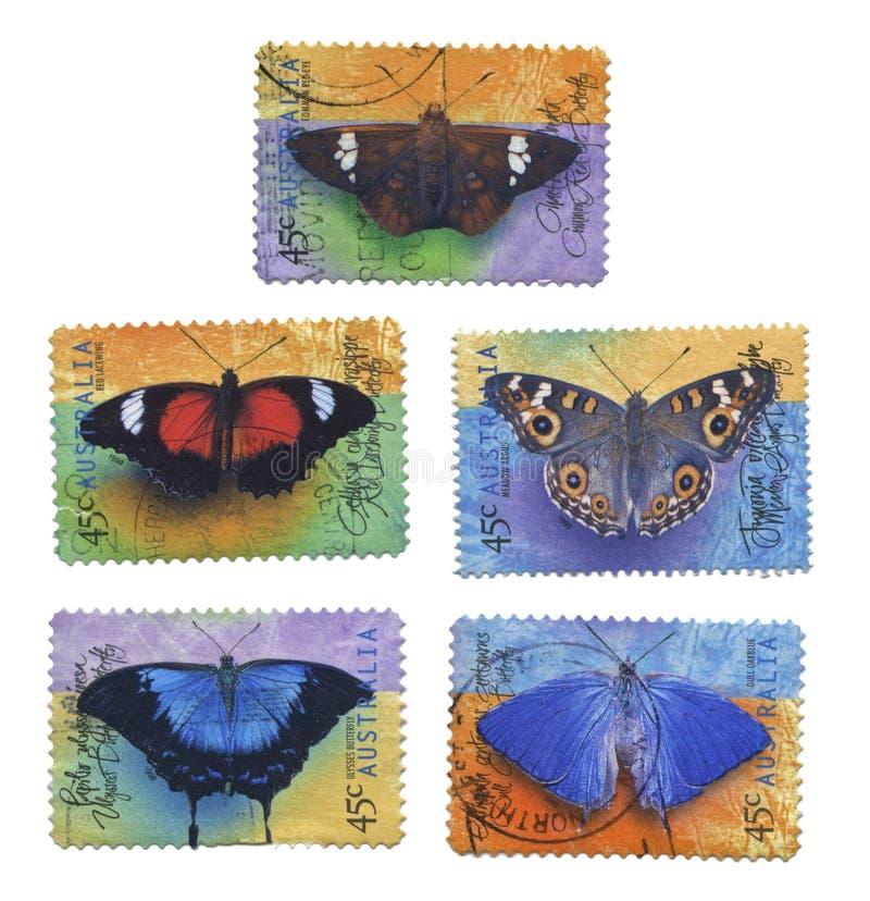 Sellos de la mariposa imagen de archivo libre de regalías