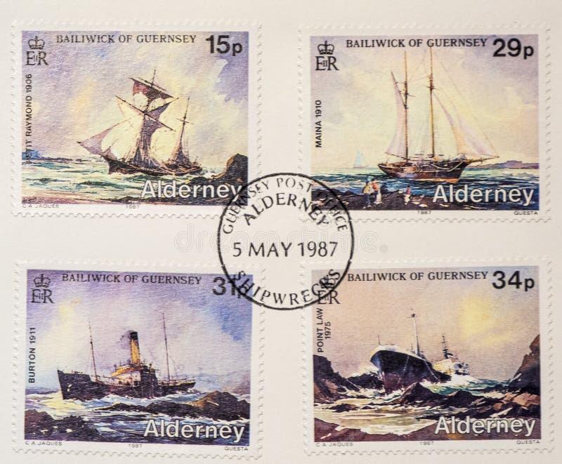 Sellos de la nave Ahoy imagenes de archivo