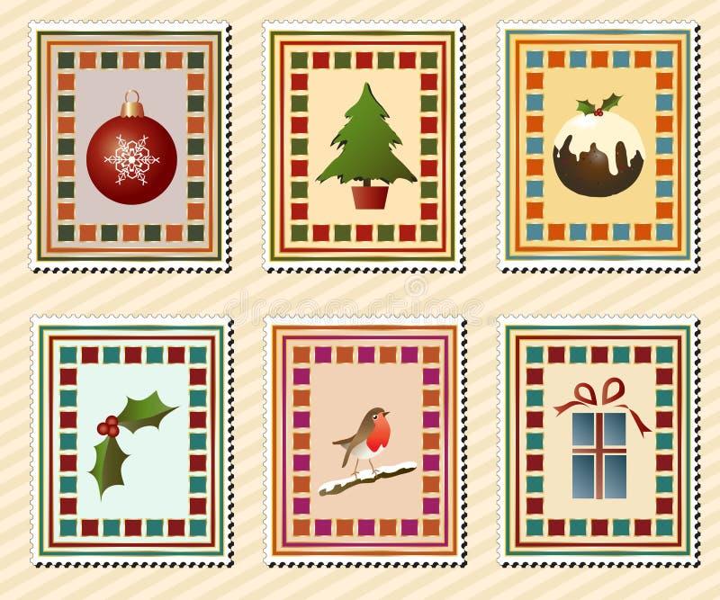 Sellos de la Navidad stock de ilustración