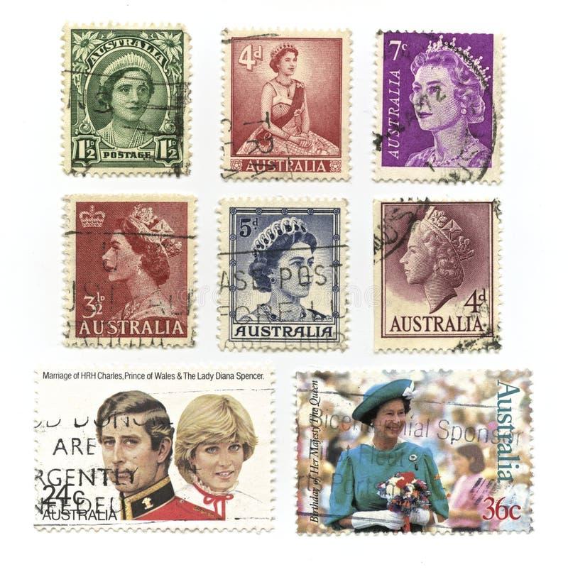 Sellos de la reina Elizabeth imagenes de archivo