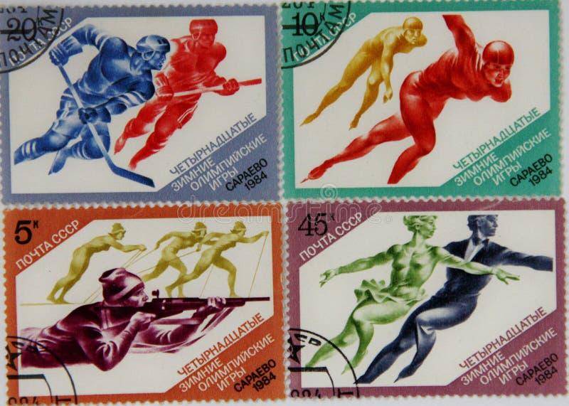 Sellos de la URSS foto de archivo libre de regalías