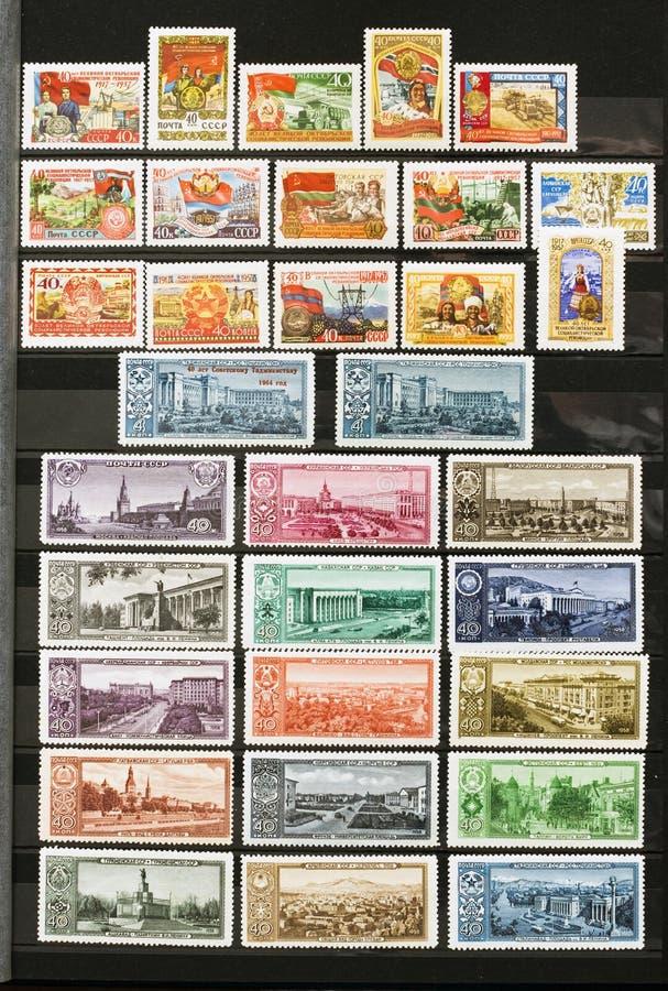 Sellos de la URSS en el álbum fotos de archivo libres de regalías