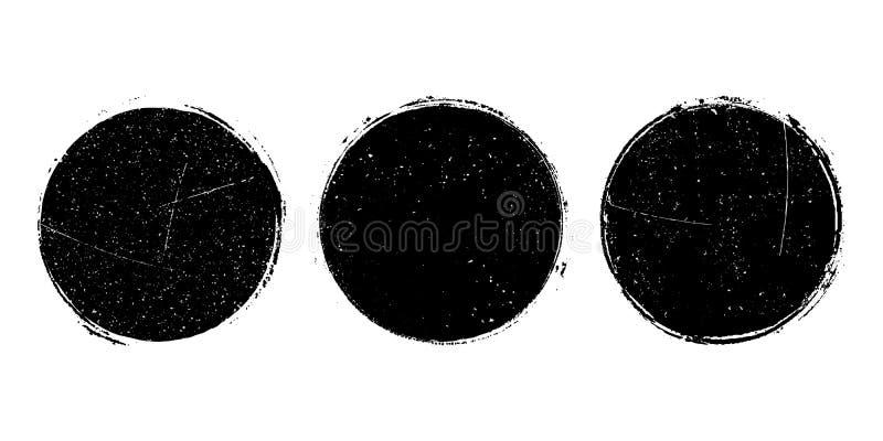 Sellos de los posts ilustración del vector
