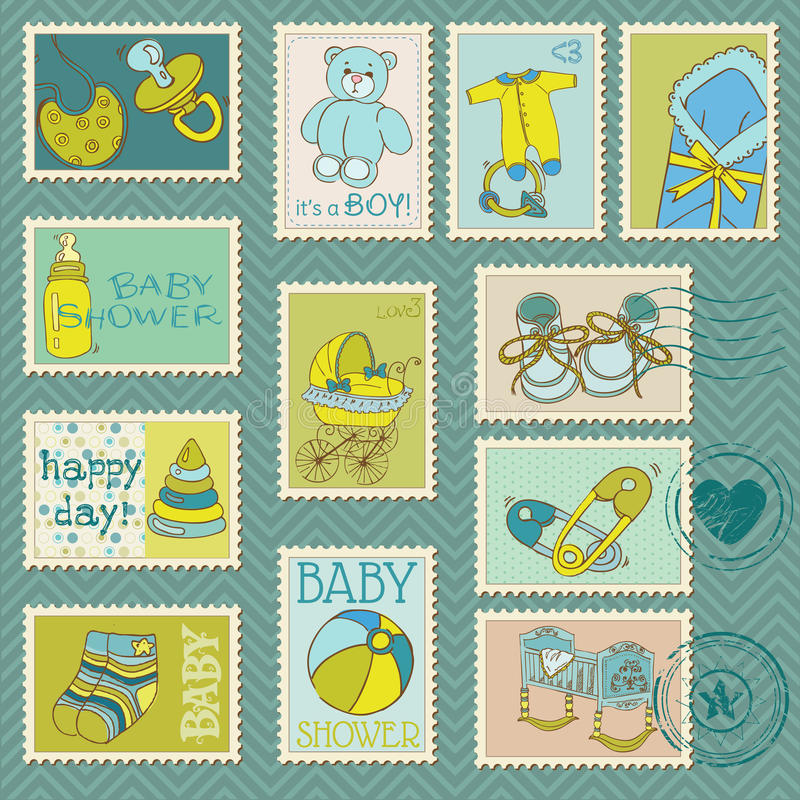 Sellos del bebé libre illustration