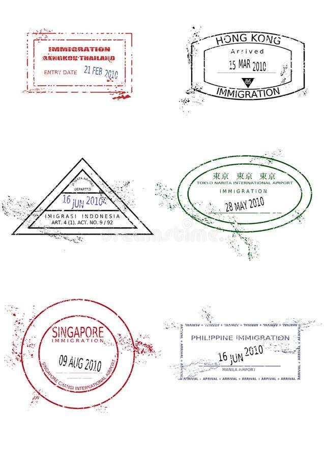 Sellos del pasaporte libre illustration