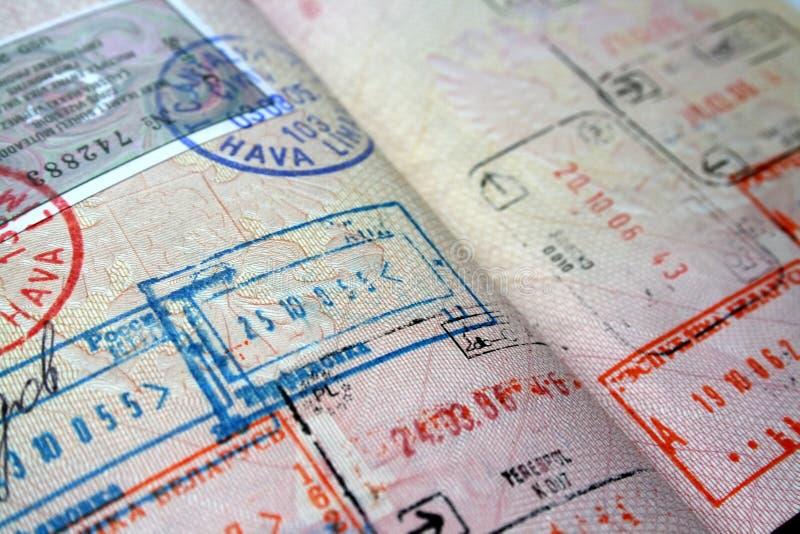 Sellos del pasaporte imágenes de archivo libres de regalías