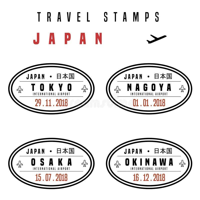 Sellos del pasaporte de Japón libre illustration