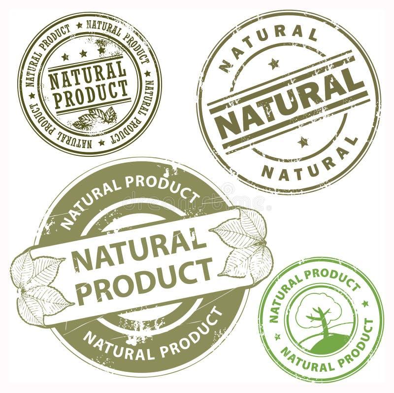 Sellos del producto natural stock de ilustración