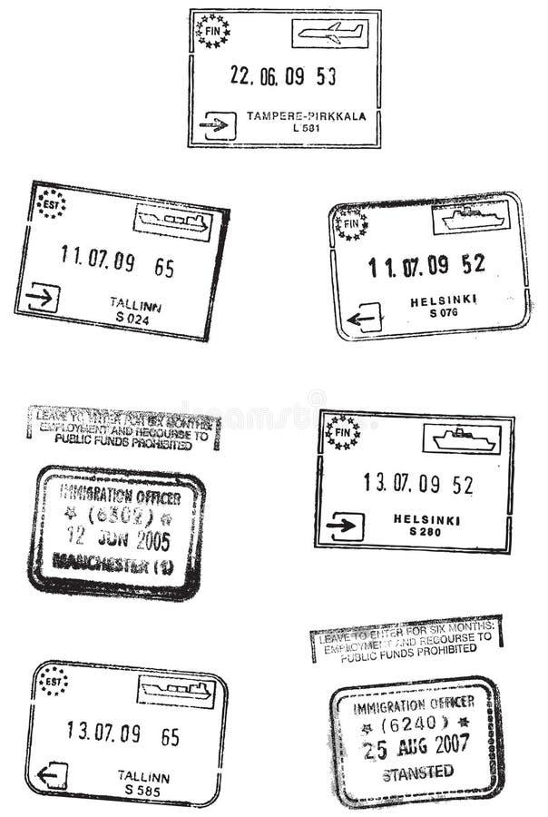 Sellos del recorrido stock de ilustración