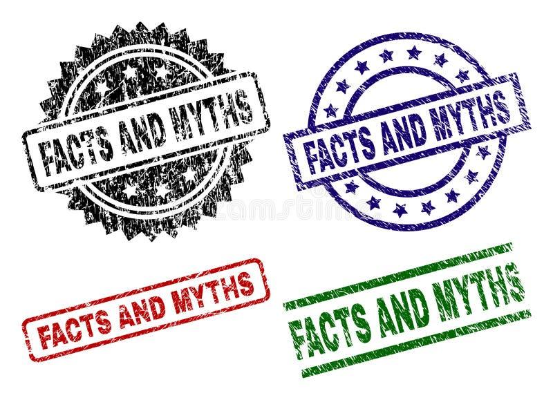 Sellos del sello texturizado dañado de los HECHOS Y de los MITOS libre illustration