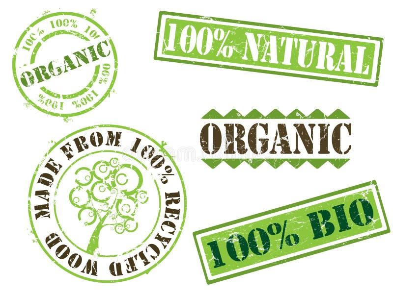 Sellos orgánicos y de la ecología libre illustration