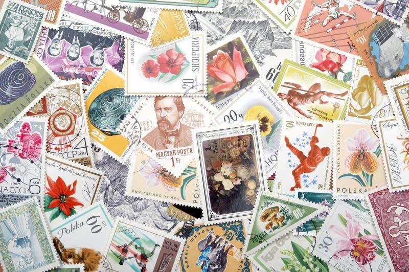 Sellos postales fotos de archivo