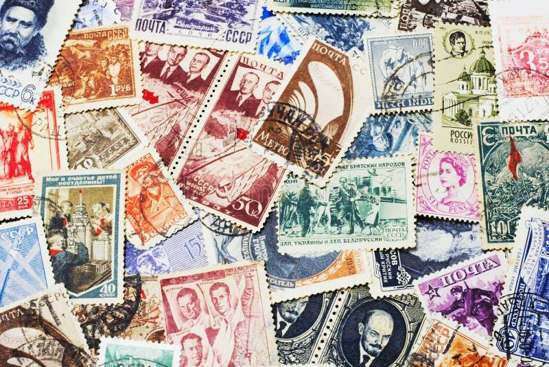 Sellos postales soviéticos fotos de archivo libres de regalías