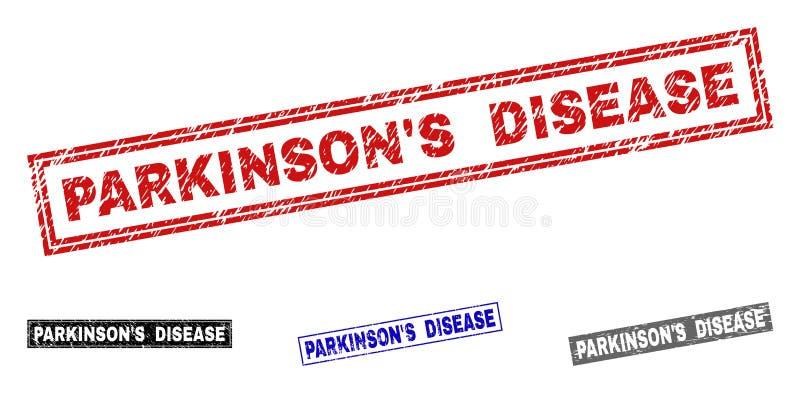 Sellos rasguñados ENFERMEDAD del sello del rectángulo de S de PARKINSON del Grunge ' libre illustration