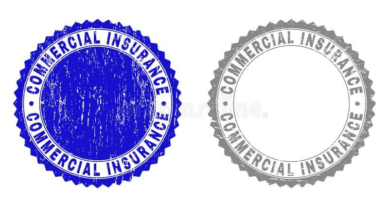 Sellos rasguñados SEGURO COMERCIAL del sello del Grunge libre illustration
