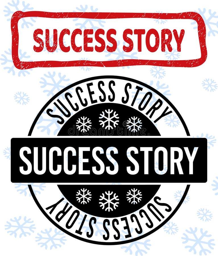 Sellos rasguñados y limpios del caso de éxito del sello para Navidad stock de ilustración