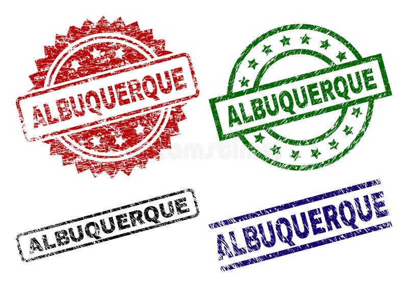 Sellos texturizados dañados del sello de ALBUQUERQUE libre illustration