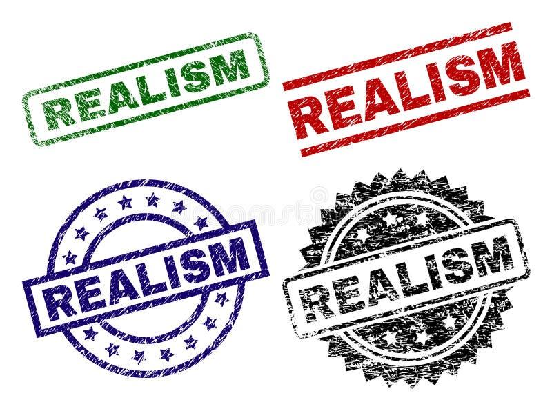 Sellos texturizados dañados del sello del REALISMO libre illustration