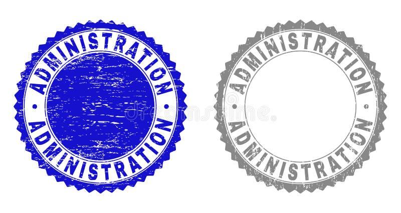 Sellos texturizados del Grunge de la ADMINISTRACIÓN con la cinta libre illustration