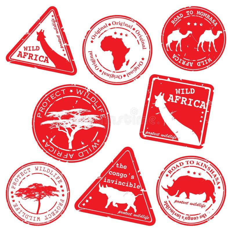 Selo, África selvagem, jogo do vetor imagem de stock royalty free